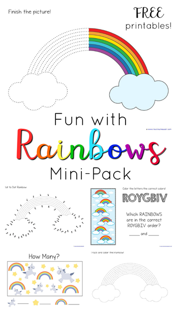 Rainbow Theme Printables