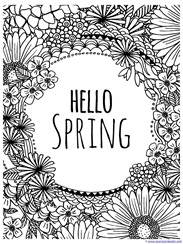 Sprint coloring pages ~ Spring Coloring Pages - 1+1+1=1