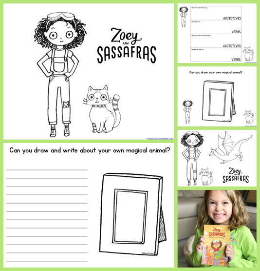 Zoey and Sassafras Coloring Pages and Printables