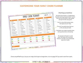 Family Chore Planner