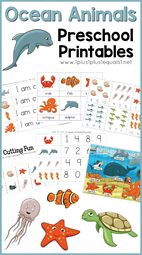 Ocean Animals Preschool Printables