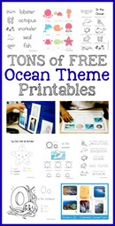 Ocean Theme Printables Collection