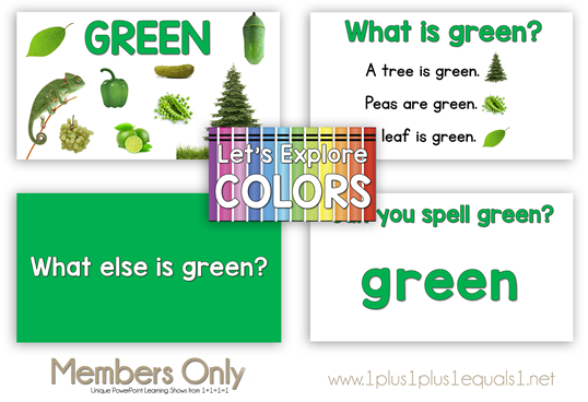 Let's Explore Colors PowerPoint Show from 1 1 1=1