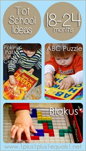 Tot School Ideas Ages 18-24 Months