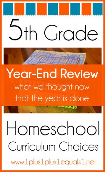 5th Grade Homeschool Curriculum Year End Wrap Up
