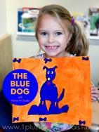 Home Art Studio Project -The Blue Dog