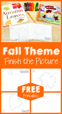 Fall Theme Finish the Picture Printables