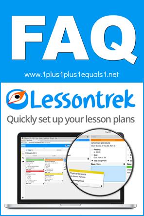Lessontrek Online Lesson Planner FAQ