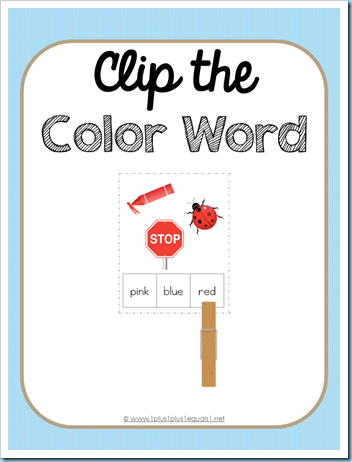 Clip the Color Word