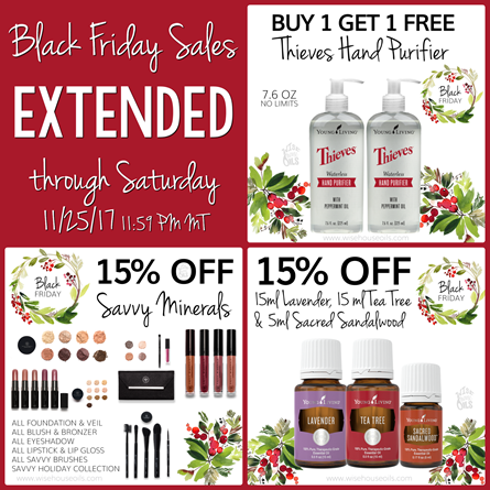 Young Living Black Friday Sales Extended 2017 WHO