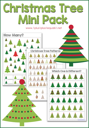 Christmas Tree Mini Printable Pack