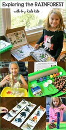 Rainforest  Unit Study with Ivy Kids Kits