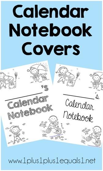 Calendar Notebook Covers