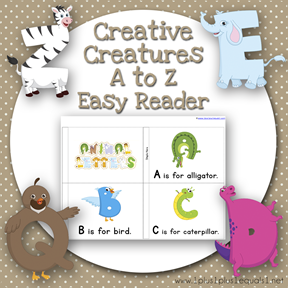 Creative Creatures A to Z Easy Reader TN