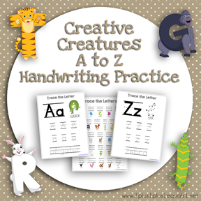 Creative Creatures A to Z Q Handwriting Practice TN