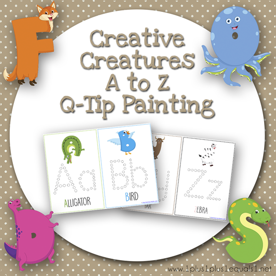 Creative Creatures A to Z Q Tip Painting TN