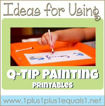 Ideas for Using Q Tip Painting Printables