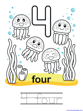 Ocean Animals Counting 0 through 10 Coloring Pages (6)