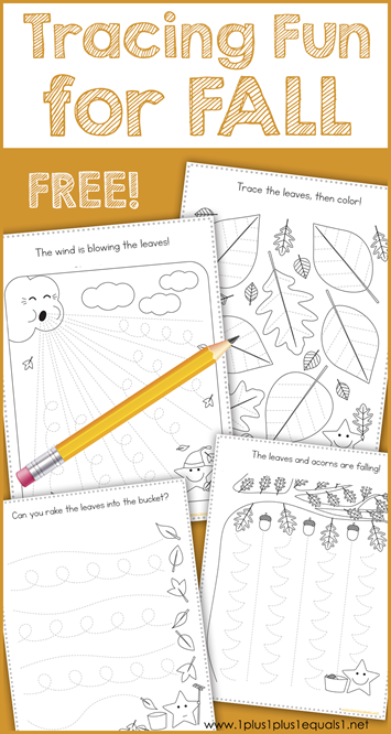 Tracing Fun for FALL Printables