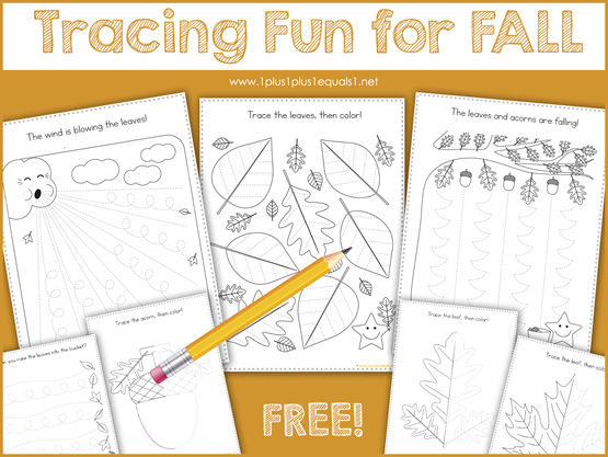 Tracing Fun for FALL
