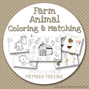Farm Animal Fun FREEBIE from 1 1 1=1 Shop