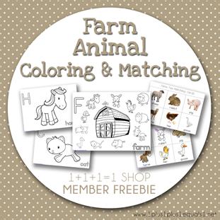 Farm Animal Fun FREEBIE from 1 1 1=1 Shop