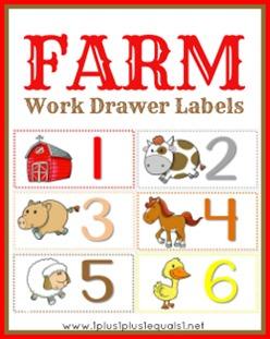 Farm Work Drawer Labels
