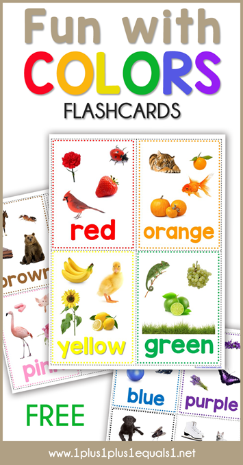 Fun with Colors Flashcards