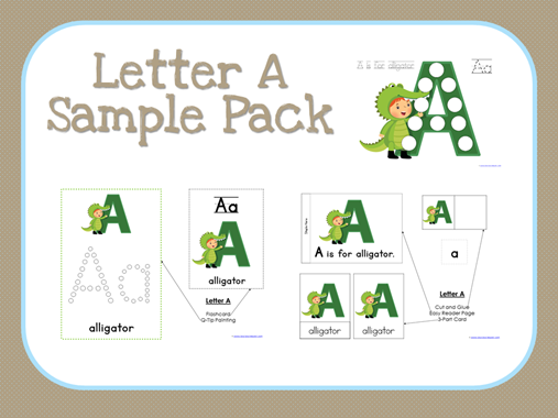 ABC Kids Letter A Sample Set