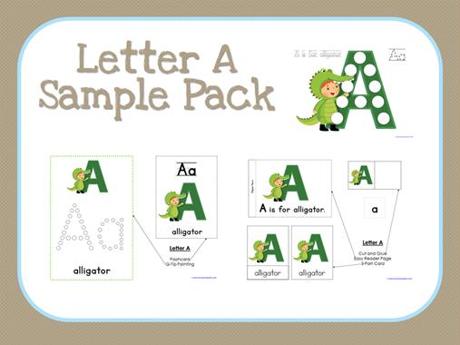 ABC Kids Letter A Sample Set