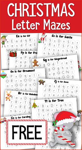 Christmas ABC Mazes