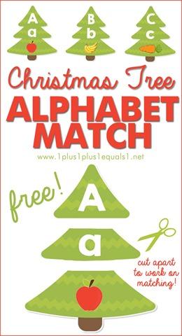 Christmas Tree Alphabet Match