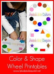 Color and Shape Wheel Printables