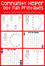 Community Helper Dot Fun Printables