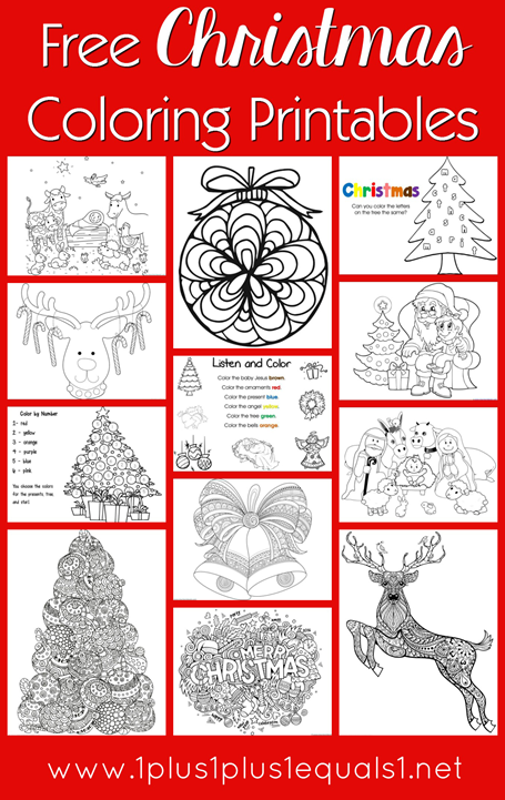 Free Christmas Coloring Printables for Kids and Adults
