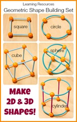 Learning Resources Geometric Shape Building Set