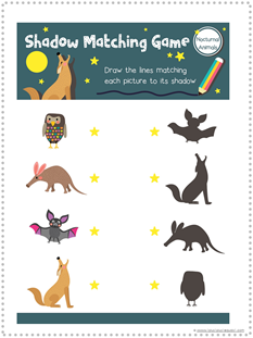 Nocturnal Animals Printables (4)