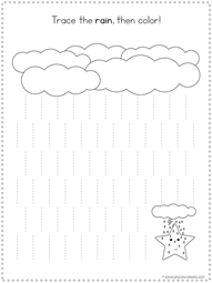 Weather Theme Tracing Fun printable set
