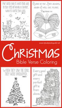 Christmas Bible Verse Coloring