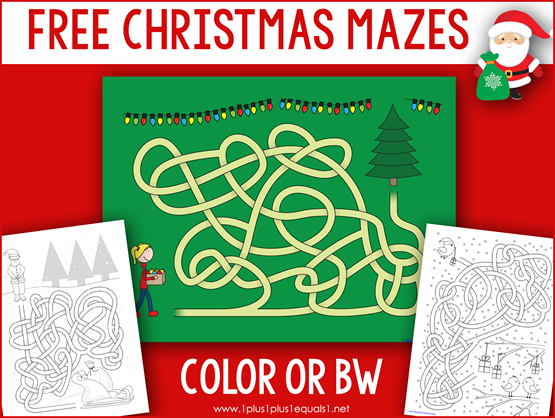 Christmas Mazes for Kids