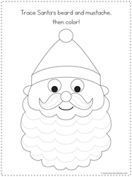 Christmas Tracing Fun Printables (5)