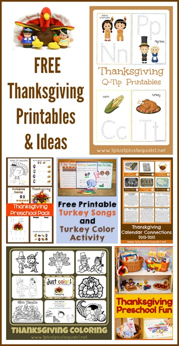 Thanksgiving Printables and Ideas