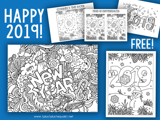 New Year 2019 Activity Pages