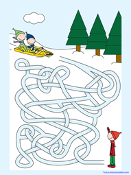 Winter Mazes for Kids (6)