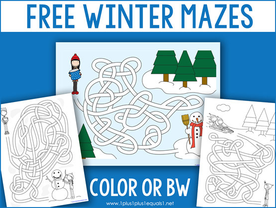 Winter Mazes for Kids