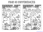 Find the Differences in the Picture WINTER Edition (9)