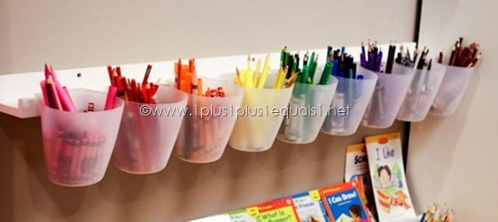 Homeschool-Room- Storing Crayons