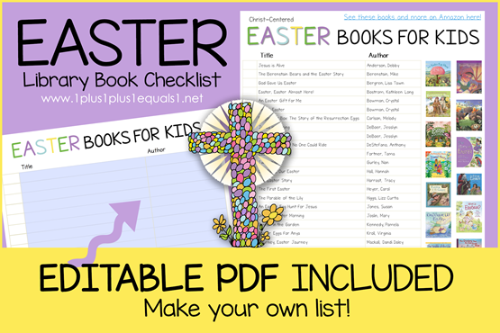 Easter Book Editable Book Checklist