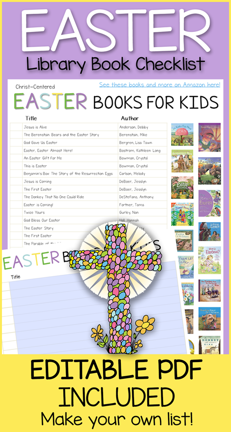 Easter Book Editable Library Checklist