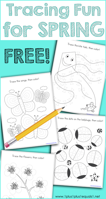 Tracing Fun for SPRING Printables